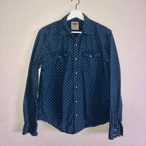 Levi's modern fit western style with floral print